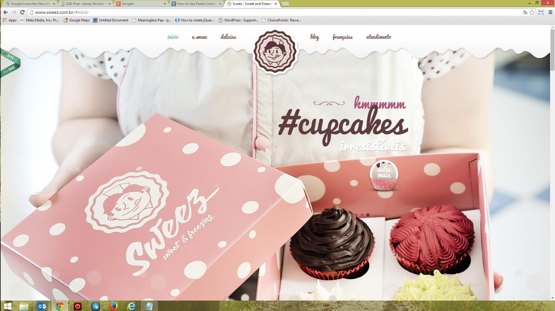 Cupcake Pastel Website Example - Sandy Nichols Web Design
