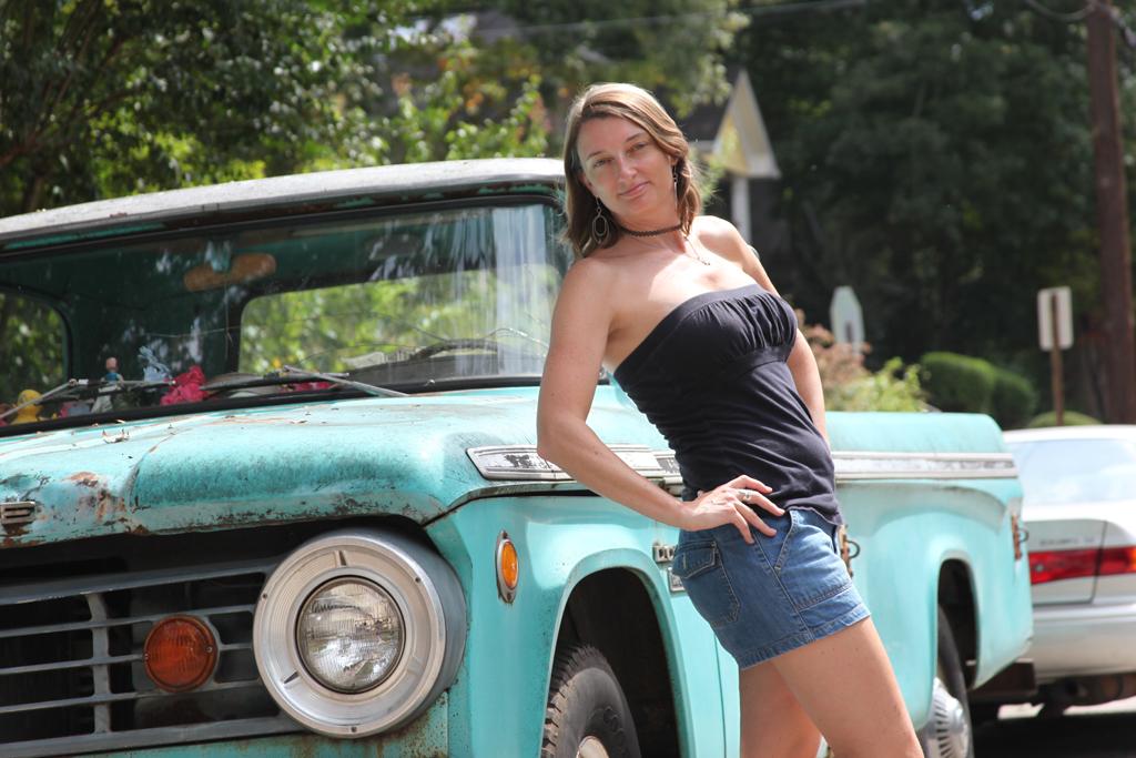 Truck Pose Self Portrait Sandy Nichols Web Design amp Usability
