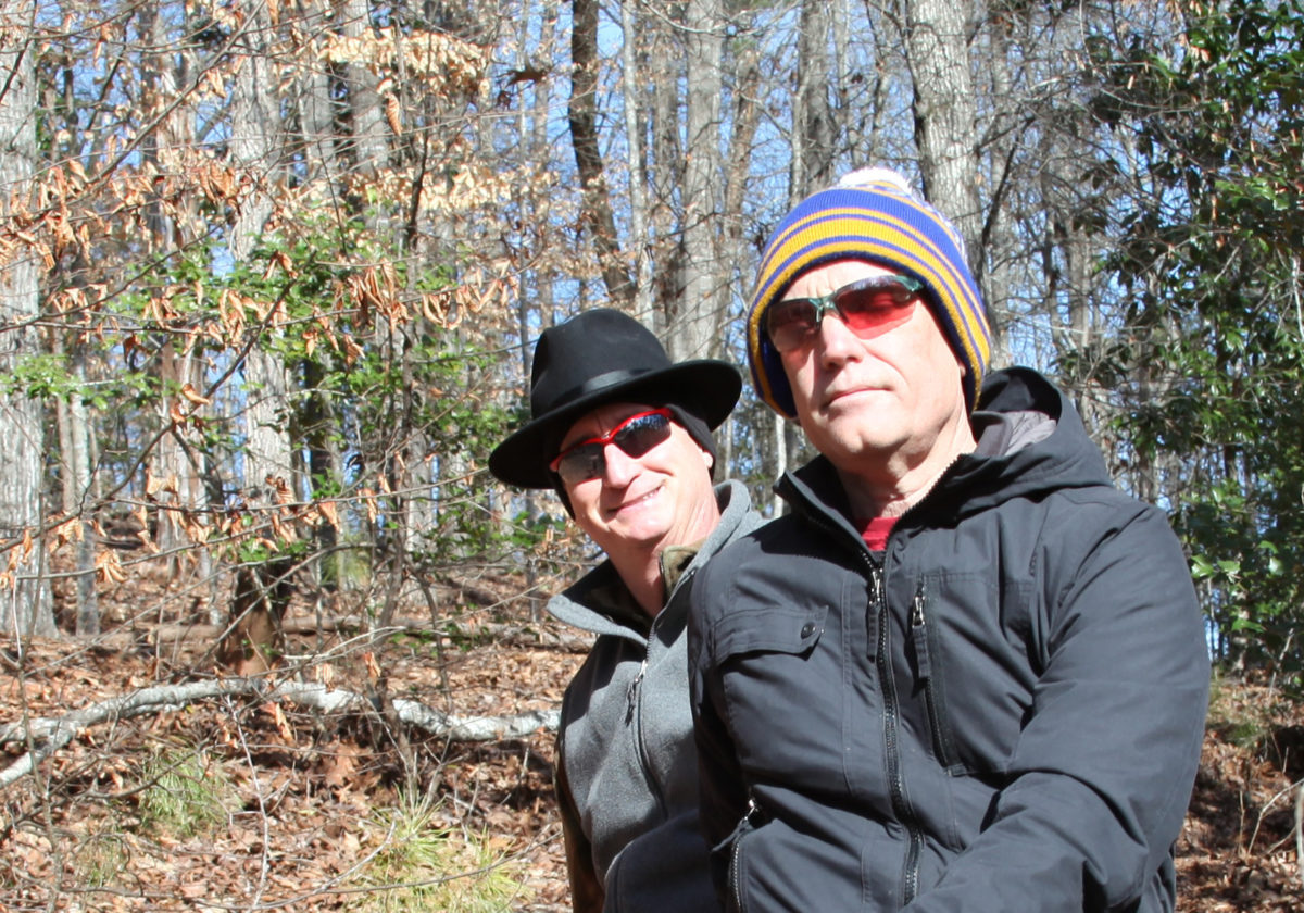 Gregor Smith and Larry Reid in Morgan Falls